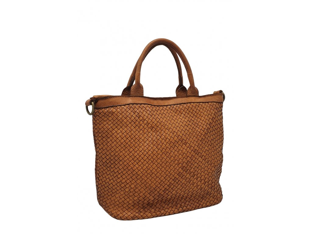 Kožená kabelka vintage cuoio
