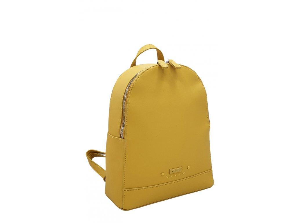 Batoh z ekokůže žlutý