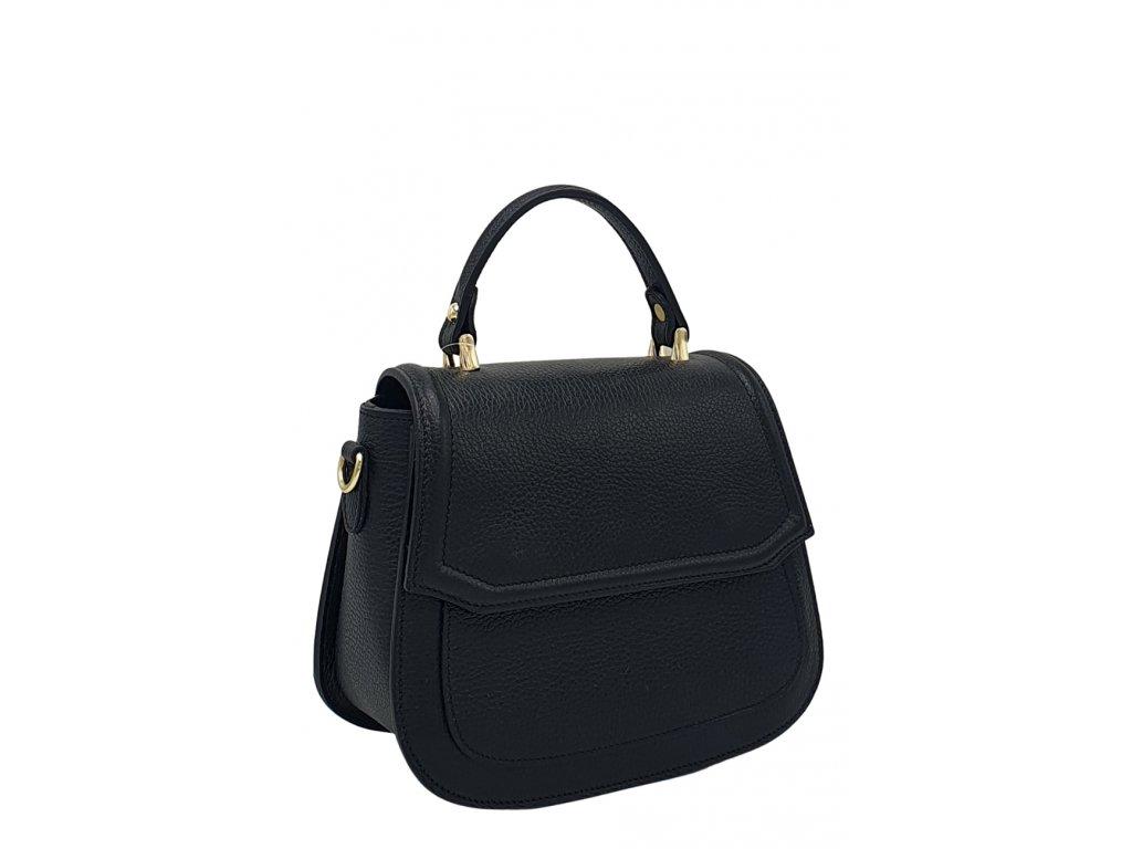 Kožená kabelka černá