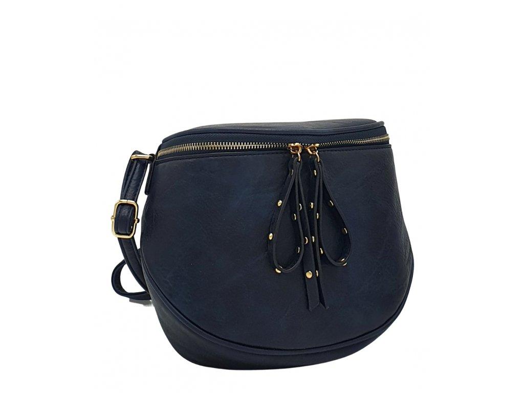 Crossbody kabelka z ekokůže tmavě modrá