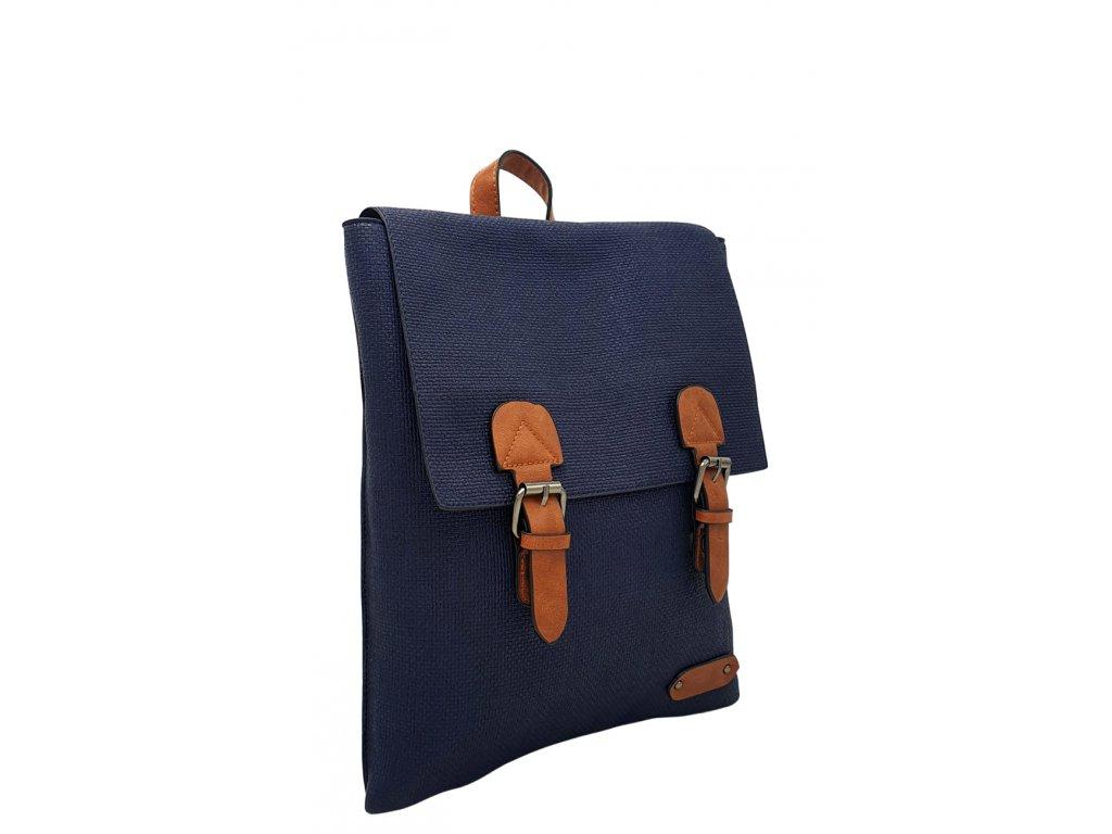 Batoh z ekokůže modrý