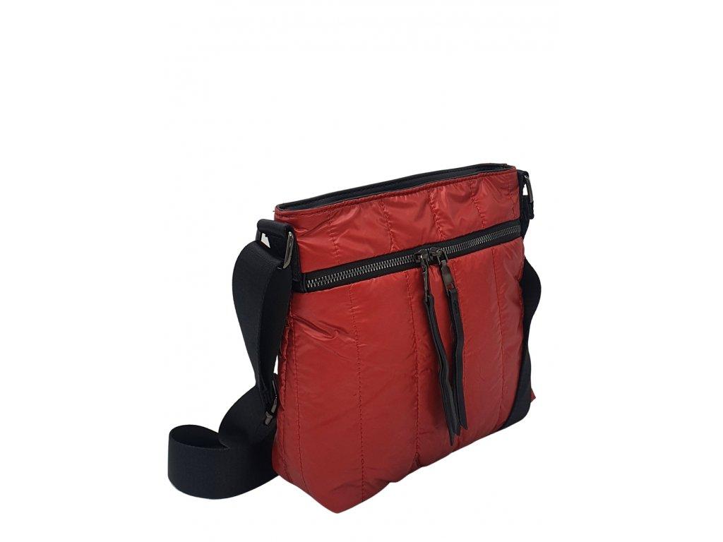 Látková crossbody kabelka červená