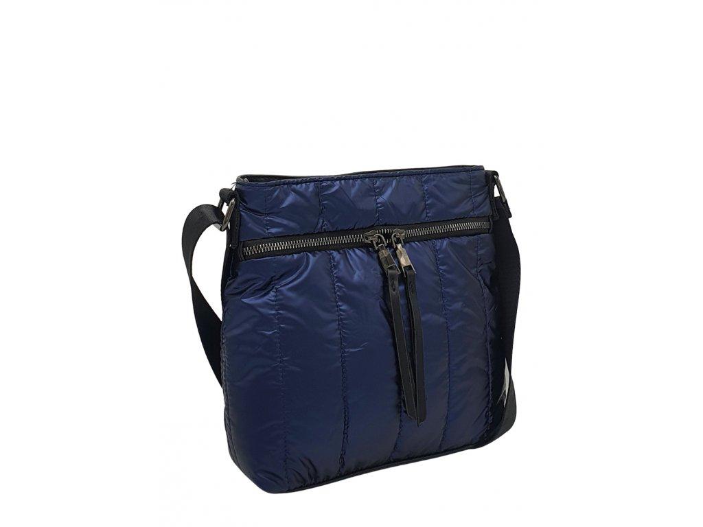 Látková crossbody kabelka modrá