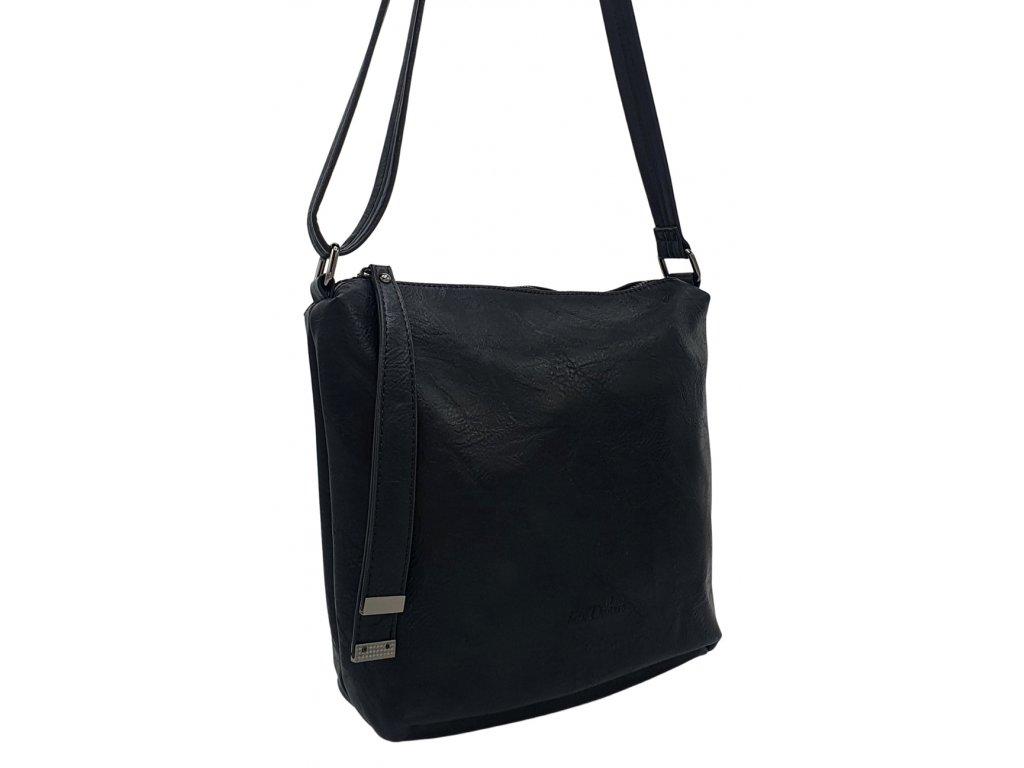 Crossbody kabelka z ekokůže černá