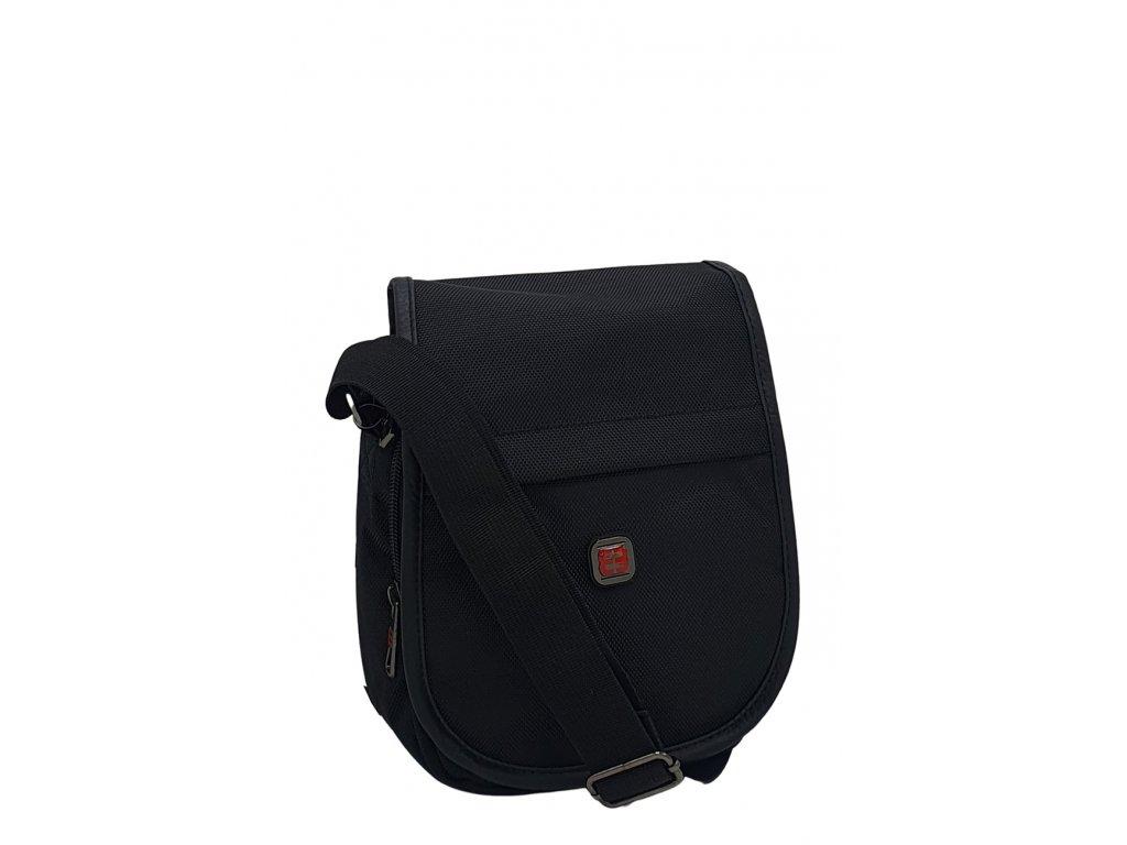 Pánská látková crossbody taška černá