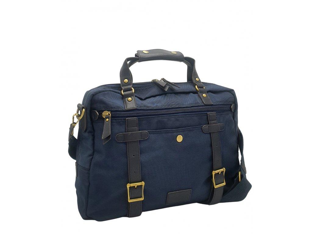 Látková business taška modrá