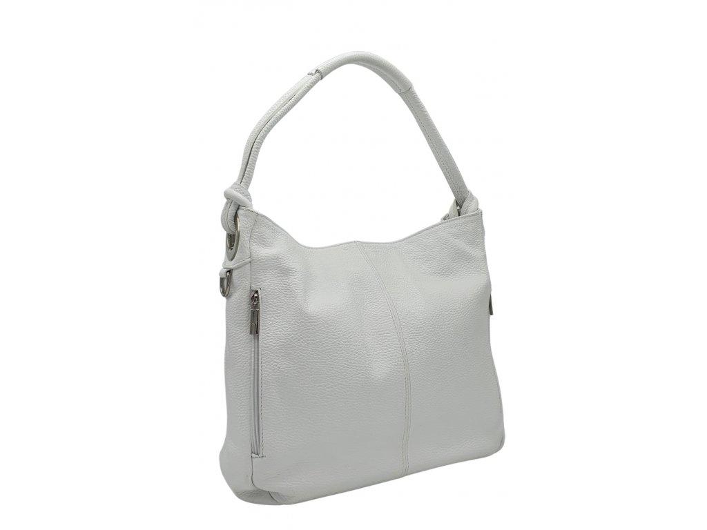 Kožená kabelka přes rameno bílá