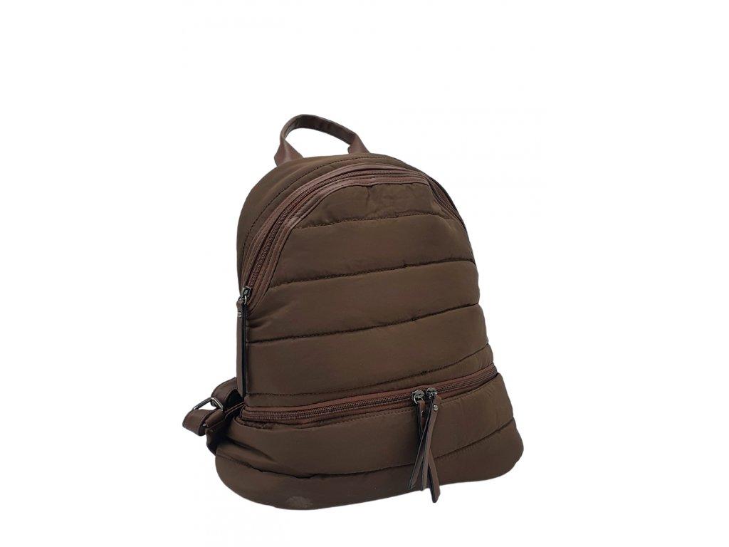 Látkový batoh hnědý
