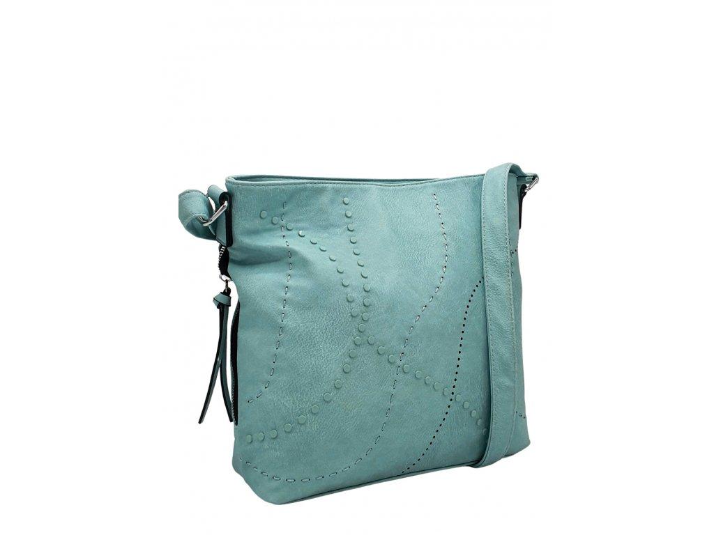 Crossbody kabelka z ekokůže světle modrá