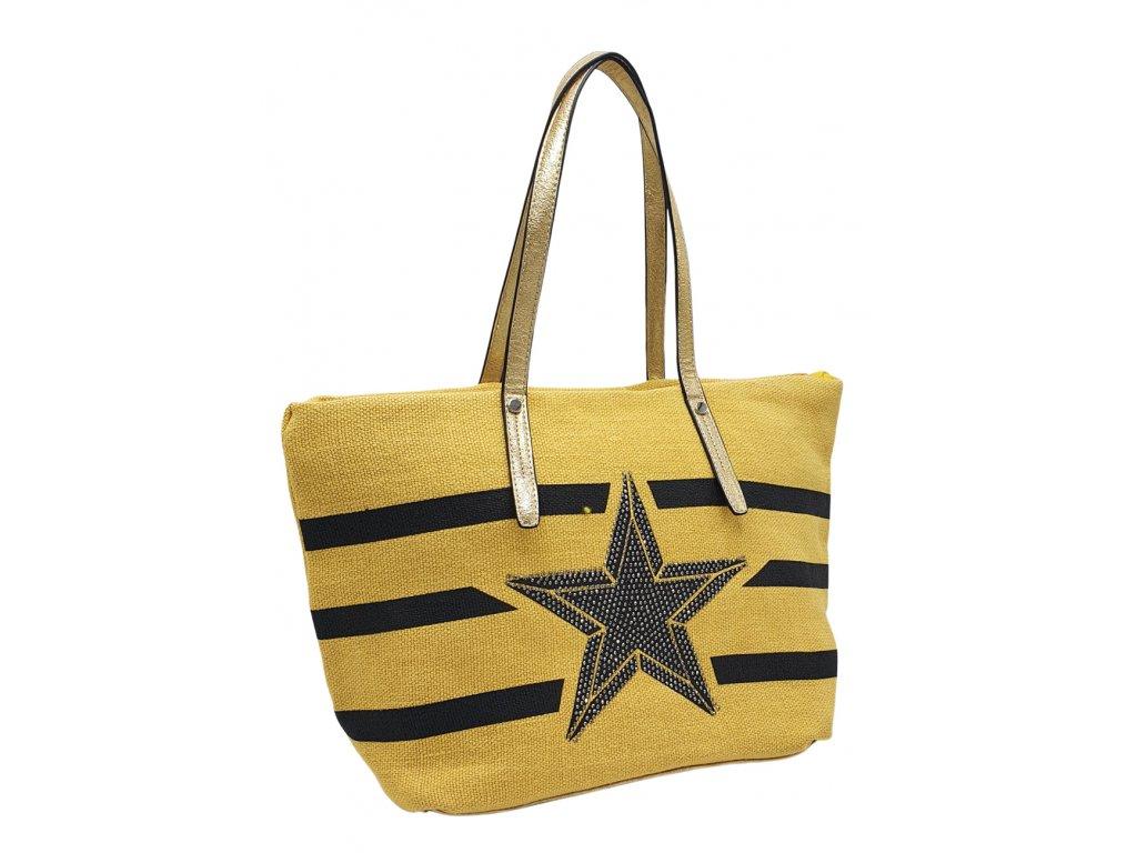 Látková taška přes rameno žlutá