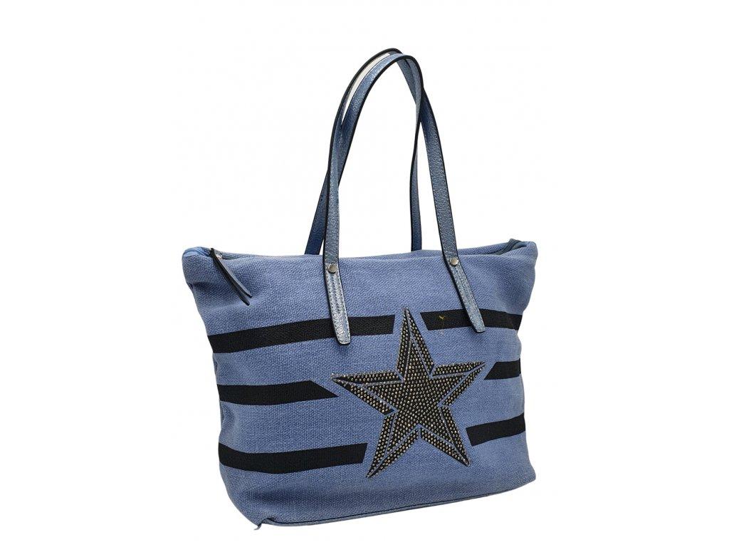 Látková taška přes rameno modrá