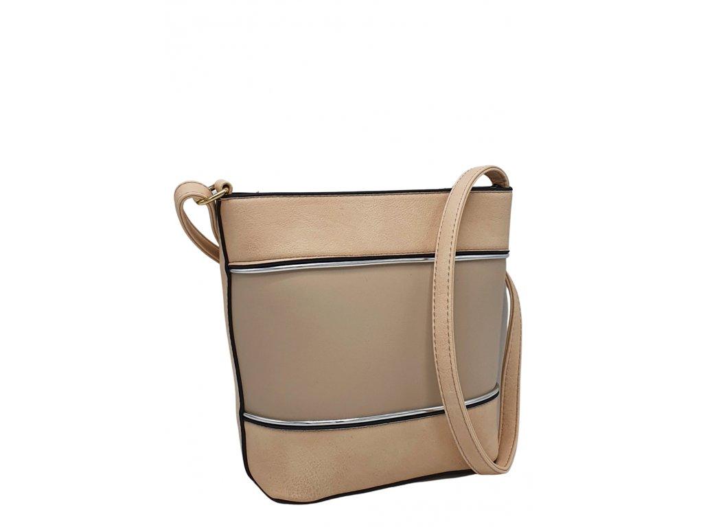 Crossbody kabelka z ekokůže meruňková