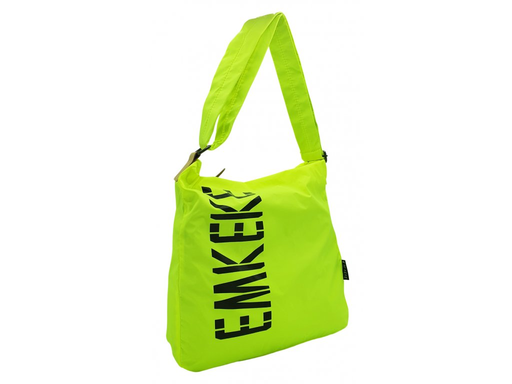 Látková taška přes rameno svítivě zelená