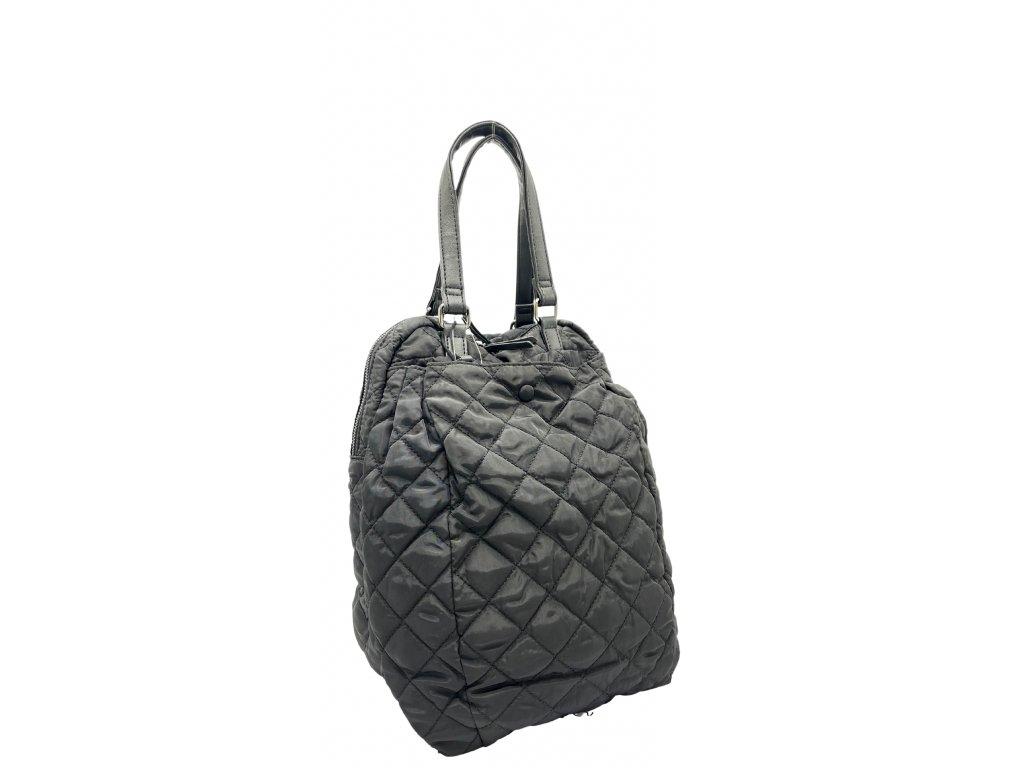 Látkový prošívaný batoh černý