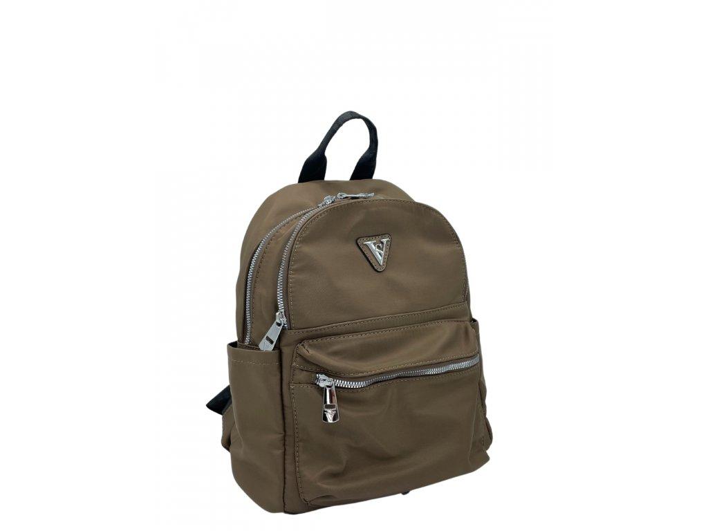 Nylonový batoh hnědý
