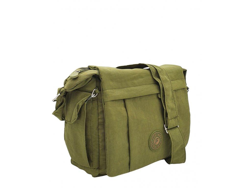 Nylonová crossbody kabelka zelená