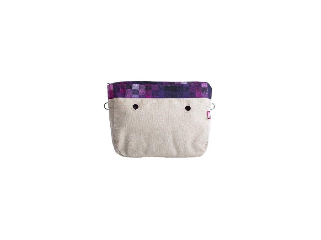 Vnitřní taška střední LANA PIXEL FUSCIA