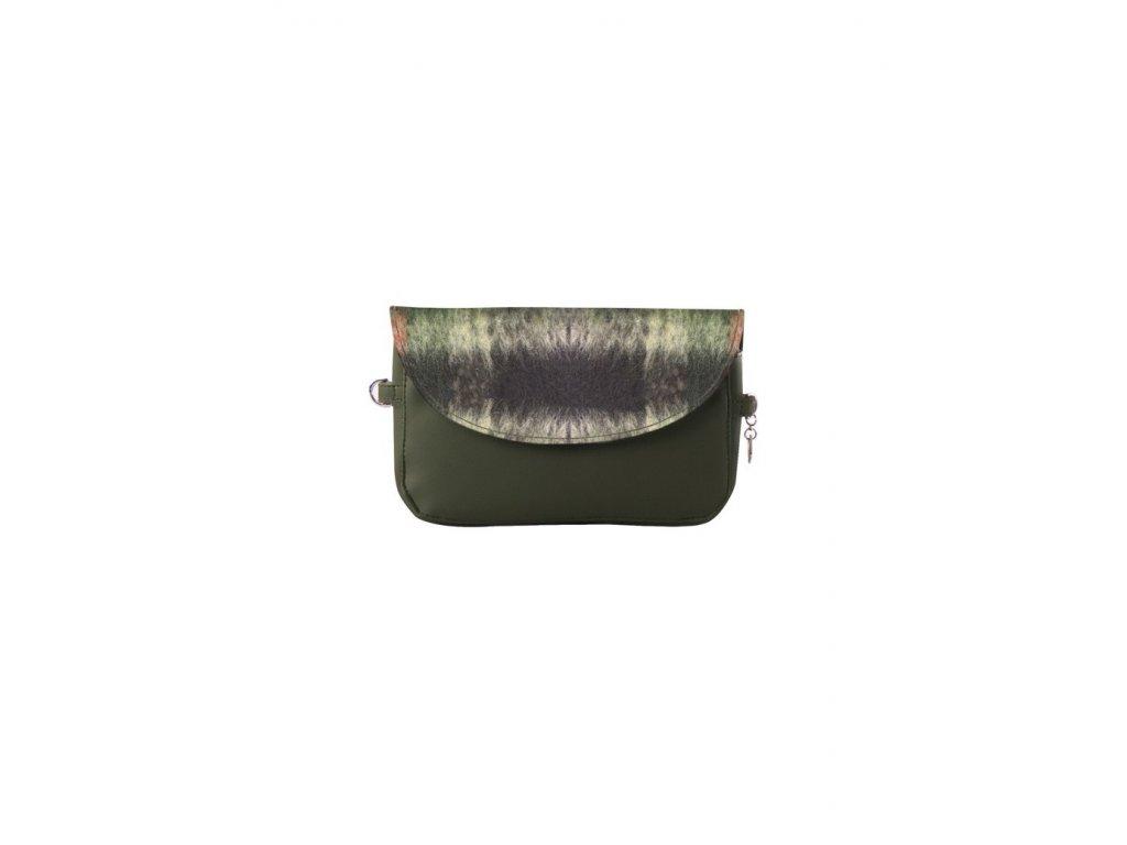 Vnitřní taška J-POSH s klopou a magnetem LANA TARTAR VERDE ARANCIO