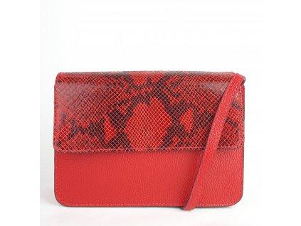 3298 kozena crossbody kabelka liana cervena s hadim vzorem 1200x1224