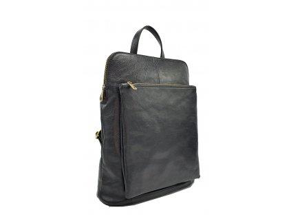 Kožený batoh Kuba černý vintage