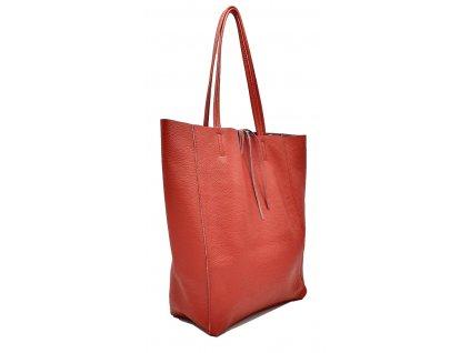 Kožená taška přes rameno Inna tmavě červená