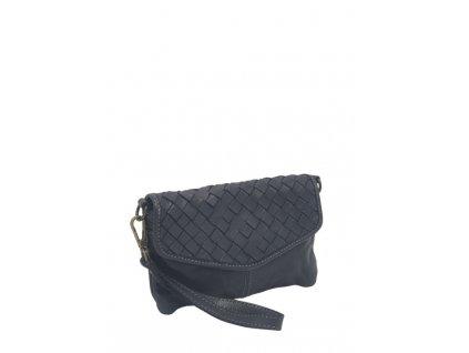 Kožená kabelka vintage černá