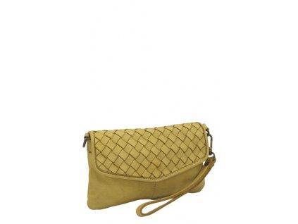 Kožená kabelka vintage žlutá