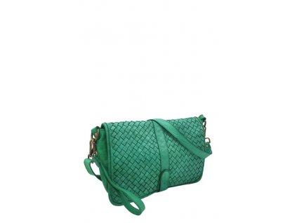 Kožená kabelka vintage zelená