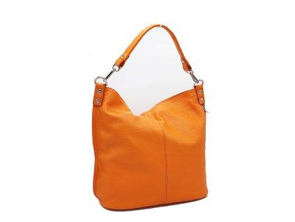 Kožená kabelka přes rameno Jolana oranžová