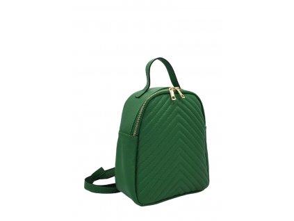 Dámský italský kožený batoh ALAIN zelený