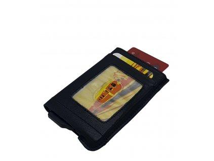 Kožené pouzdro na kreditní karty 17633 černé