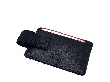 Kožené pouzdro na kreditní karty 12721 černé