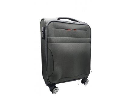 Látkový kufr šedý