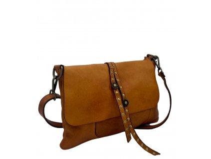 Kožená crossbody vintage kabelka cuoio