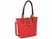 červená kabelka DOCA so štýlovým prešívaním