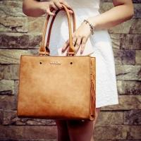 Hnedá značková kabelka DOCA do ruky a na rameno