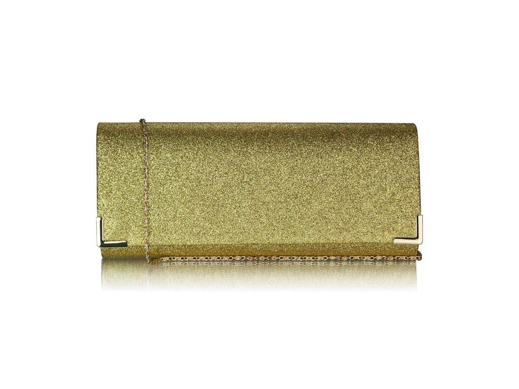 cbfc9b88bd Spoločenská kabelka Glitter - zlatá