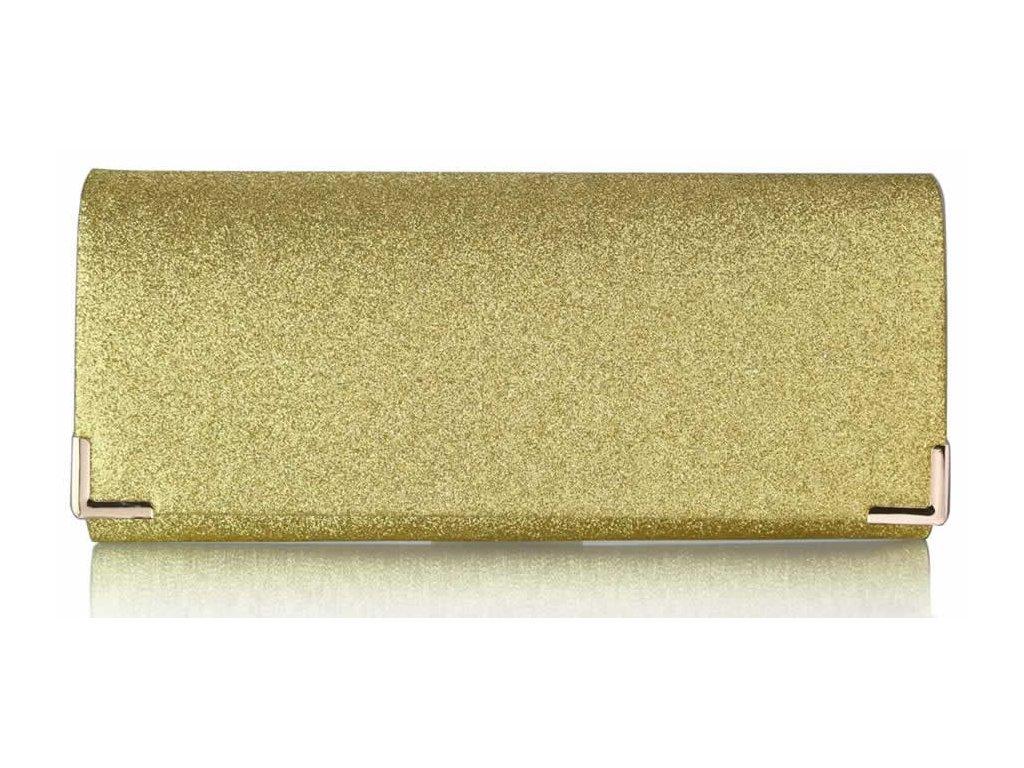 45acc21dfe Spoločenská kabelka Glitter - zlatá