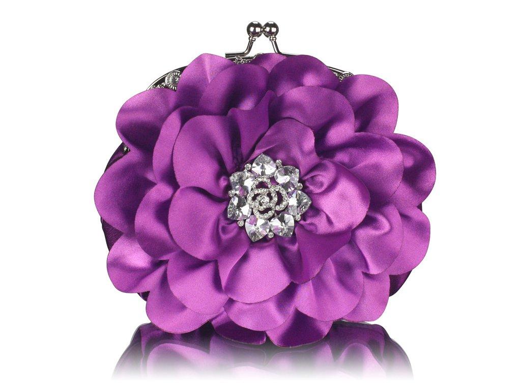 Spoločenská kabelka Kvietok - fialová