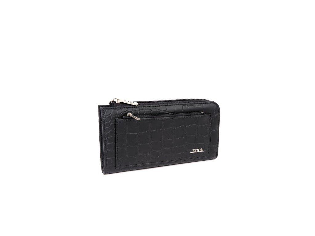 Peňaženka DOCA 64820 - čierna