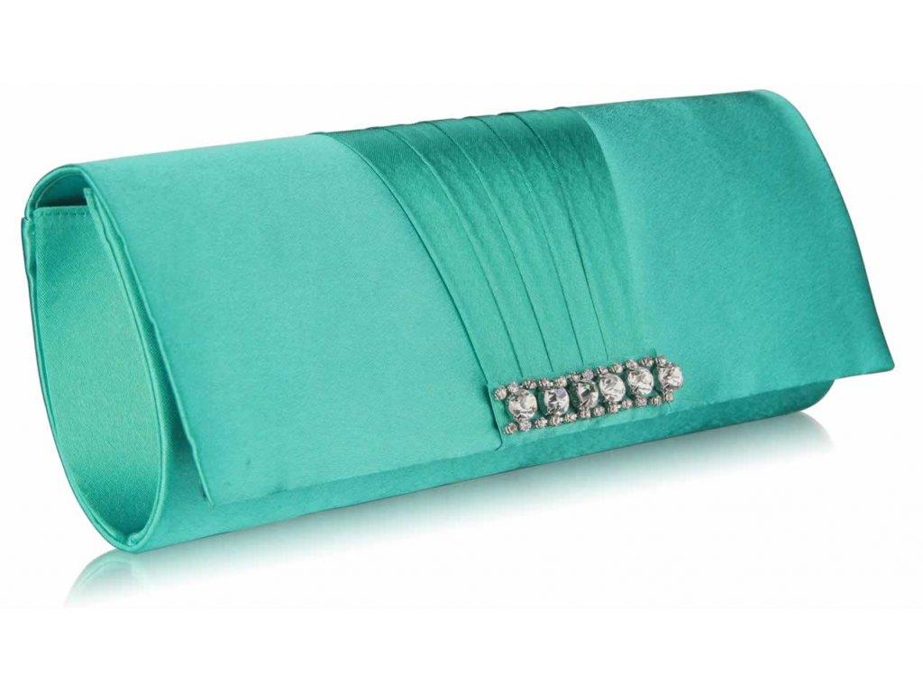 Spoločenská kabelka Cry - smaragdová