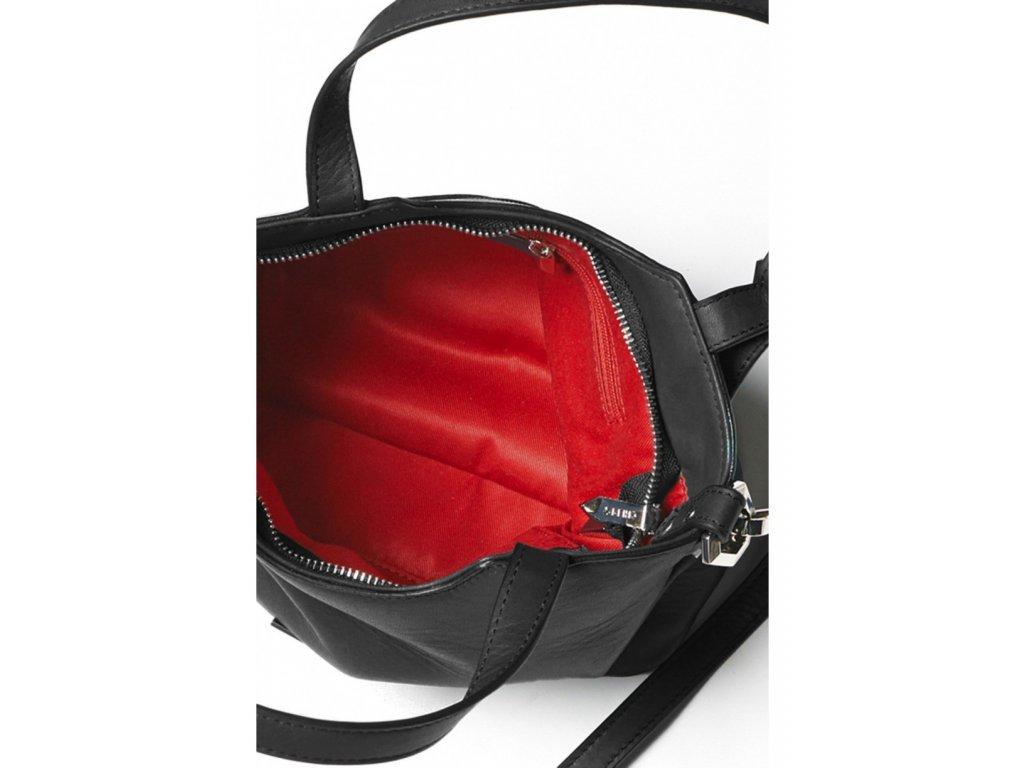 8fef698e77084 Dámska kožená kabelka TOM&EVA Frida - čierna | Kabelky.sk