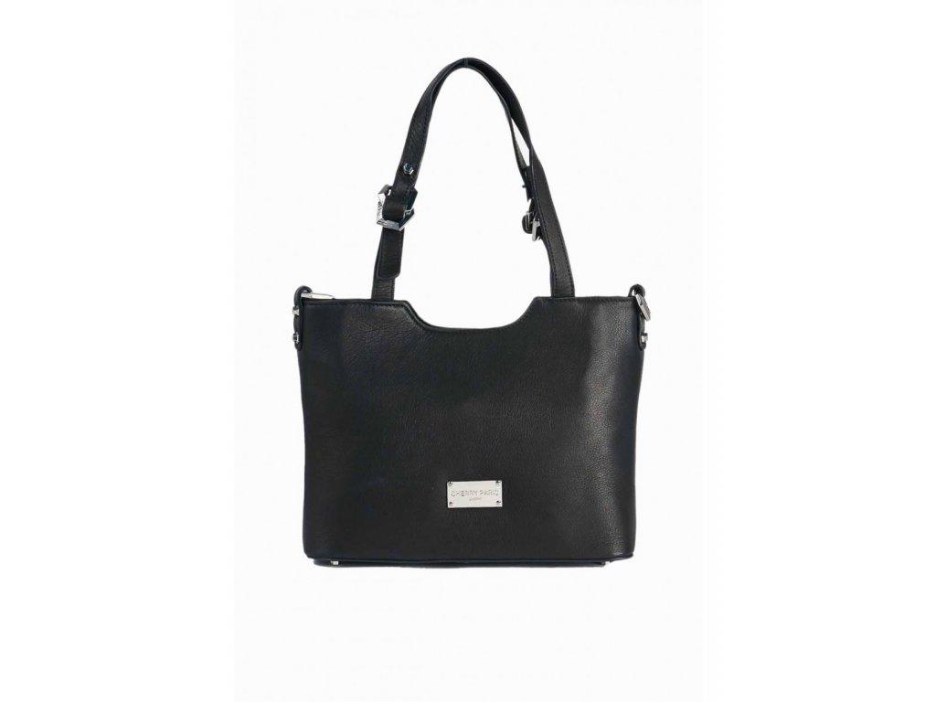 Dámska kožená kabelka TOM EVA Frida - čierna  b8f94858690