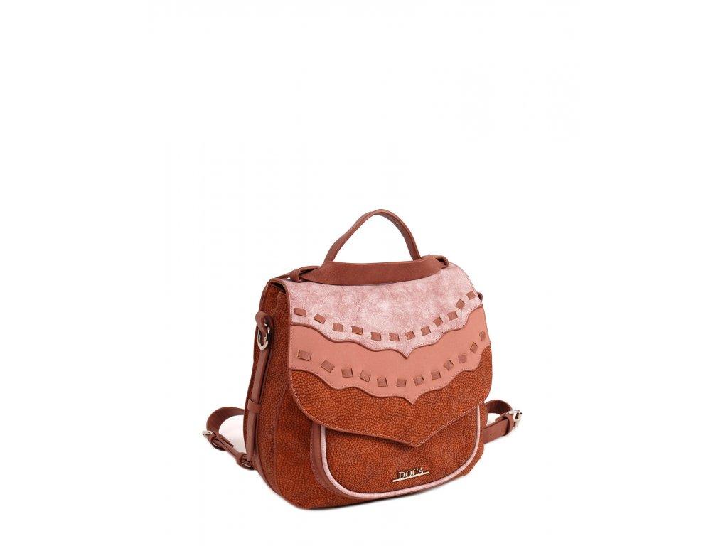 Dámska kabelka a ruksak 2v1 13288 ružová 1 kabelky.sk