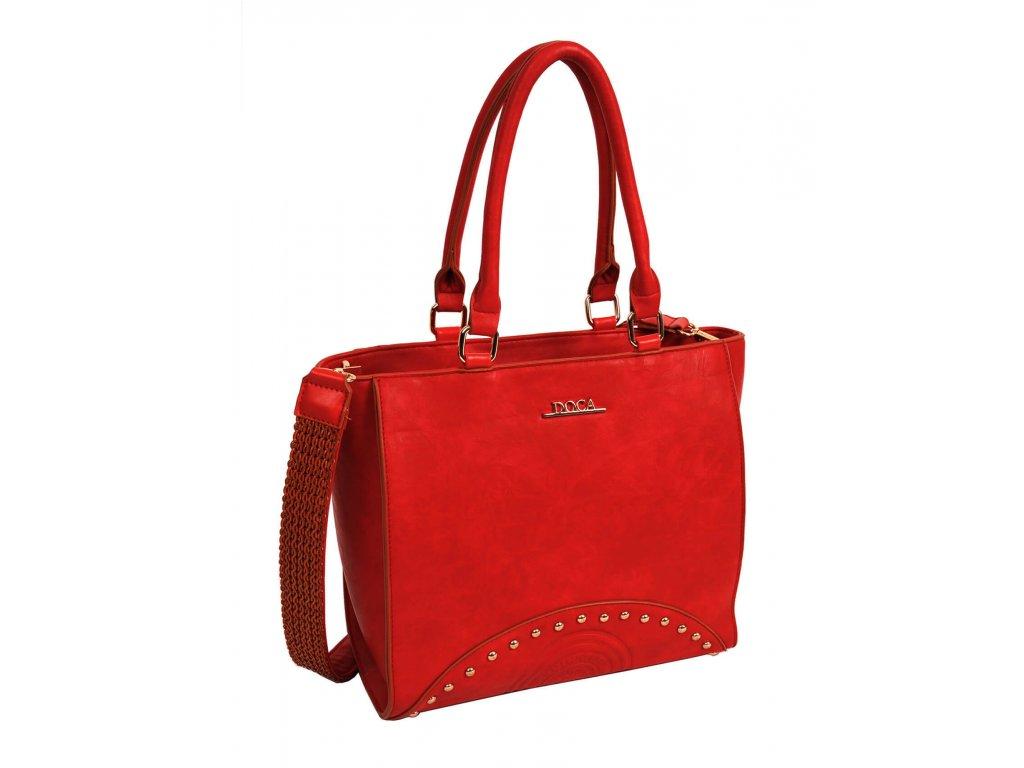 Dámska kabelka DOCA 13221 - červená  c7978852d5f