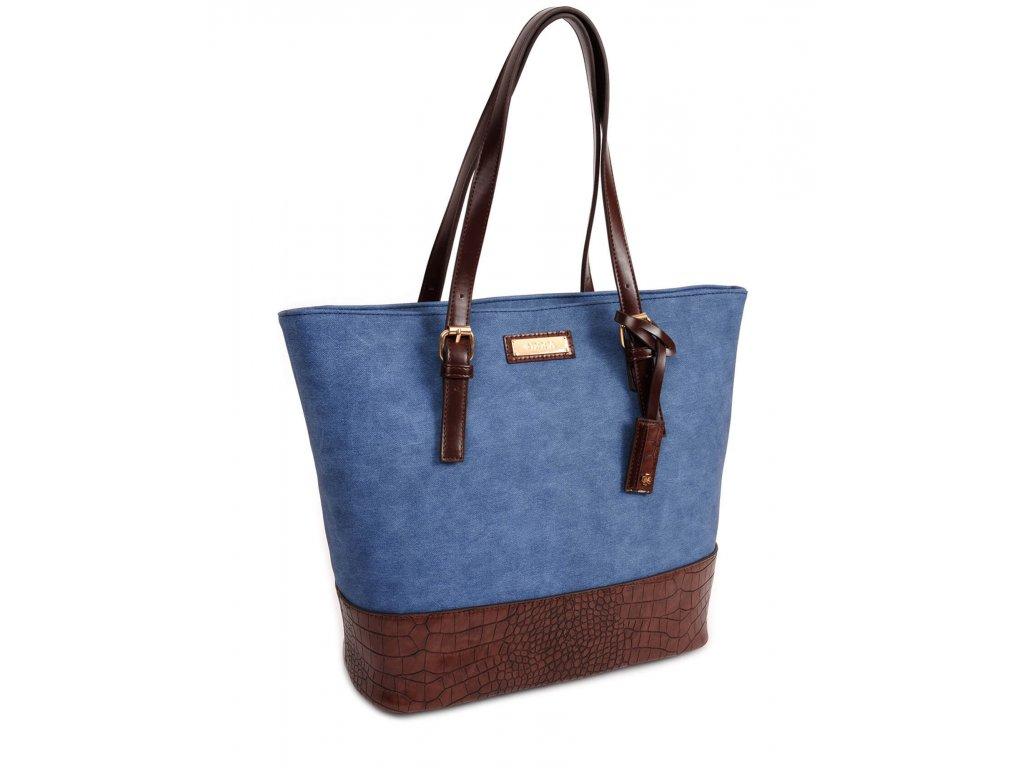Dámska kabelka DOCA 13473 - modrá