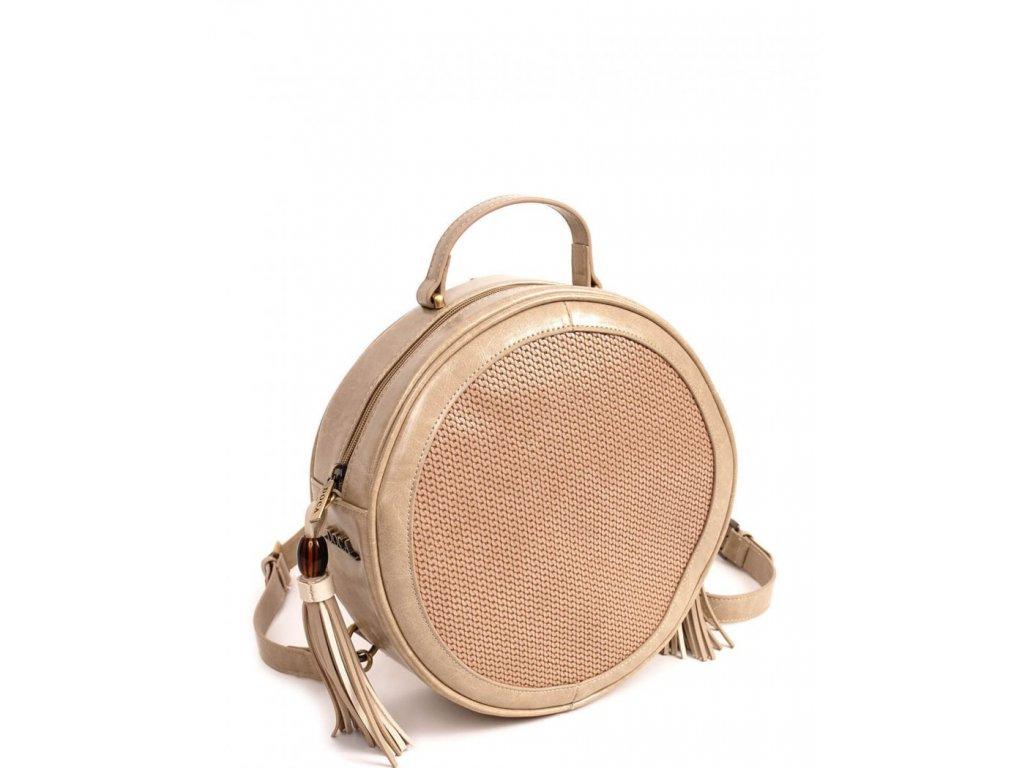 Dámska kabelka a ruksak 2v1 doca 13633 béžová 1 kabelky.sk b51753e510b