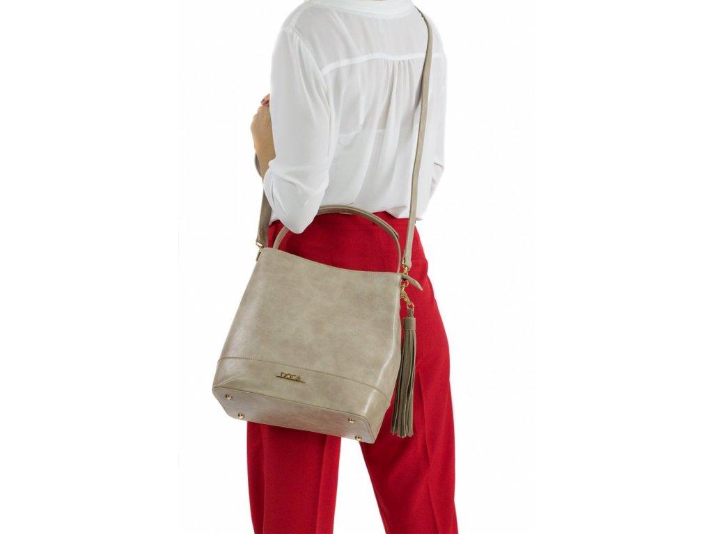 Dámska kabelka doca 13400 béžová 1 kabelky sk 35bf0672de2