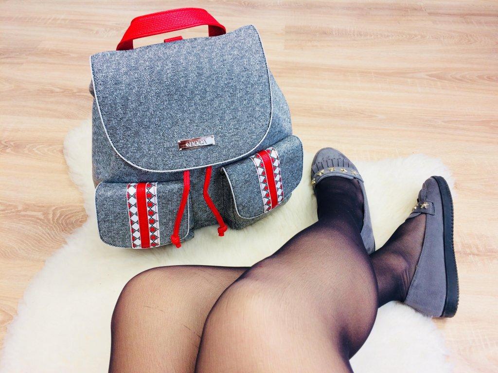 Dámsky ruksak DOCA sivý - 13750