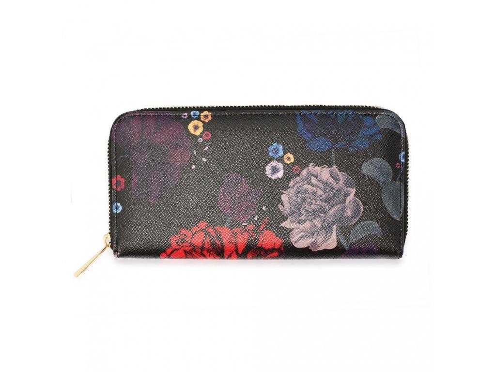 Peňaženka Floral AGP1108 čierna 1 kabelky.sk